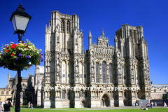 Summer, June, July, Summertime, Wells Cathedral, Wells City, Somerset, England, Britain, UK