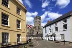 Spring, May, June, View of buildings in Axbridge village, Somerset County, England, UK
