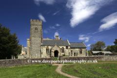 Summer, St Mary the Virgin parish church, East Quantoxhead village, Somerset, England.