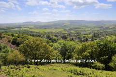 Summer view over the Quantock Hills, Somerset, England.