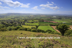 Summer, May, June, view over the Quantock Hills, Somerset, England.