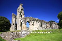 Summer, June, July, Summertime, Glastonbury Abbey, Glastonbury, Somerset, England, Britain, UK