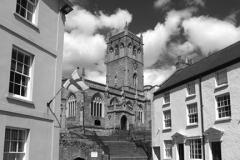 View of buildings in Axbridge village, Somerset County, England, UK