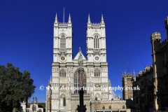Summer, exterior of Westminster Abbey, Westminster, London City, England, United Kingdom