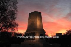 Sunset, Guards Memorial, Horse Guards parade, Westminster, London City, England, UK