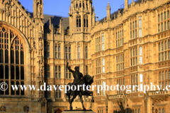 Richard the 1st Statue, Houses of Parliment, Westminster, London England UK