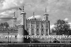 Summer, June, July, Tower of London, river Thames, North Embankment, London, England, UK