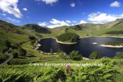 Summer view over Haweswater Lake
