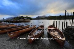 Autumn, Boats on Derwentwater Lake, Keswick