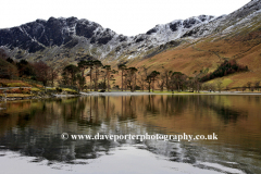 Winter view to Haystacks fell, Buttermere