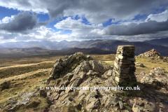 Summit Trig point on High Seat Fell, Central Fells