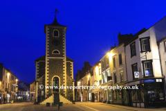 The Moot Hall and Keswick town at night