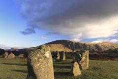 Landscape over Castlerigg Stone Circle near Keswick