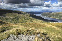 Summer view over Haweswater reservoir