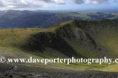 Landscape of Long Side Fell and Ullock Pike Fell ridge