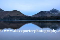 Dusk, Cat Bells Fell reflected in Derwentwater