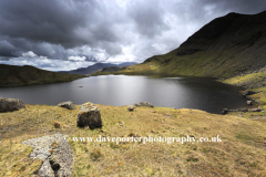 Autumn view over Stickle Tarn, Langdale