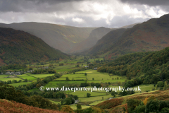 Stormy view through the Newlands valley