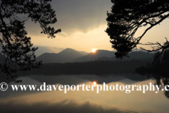 Sunset over Derwentwater lake, Keswick