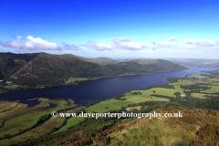 Landscape view over Bassenthwaite Lake