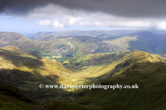 The Dovedale valley, from Hart Crag fell