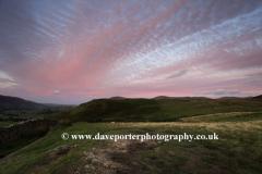 Sunset, over Walla Crag fell