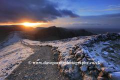 Winter Sunset over Hopegill head fell