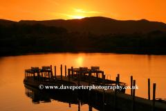 Sunset, boats on Derwentwater, Keswick