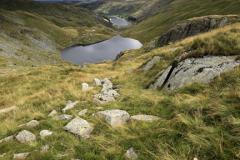 Summer view over Small Water and Haweswater