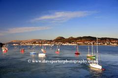 Boats in Afon Conwy, Conwy Town, Conwy