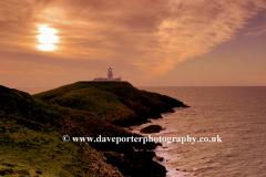 Sunset Strumble Head Lighthouse, Pembrokeshire