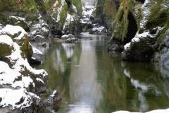 Winter, Fairy Glen, River Conwy near Betws-y-Coed