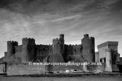 Castle Walls of Conwy Castle, North Wales