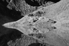 Mount Snowdon reflected in Llyn Llydaw Snowdonia
