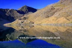 Mount Snowdon reflected in Llyn Llydaw