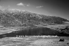 Glyder Fach reflected in Llyn Cwmffynon Snowdonia