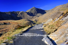 Mount Snowdon from the Miners Track footpath