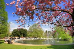 Fountains in Jephson Gardens, Leamington Spa town