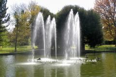 Fountains, Jephson Gardens, Leamington Spa town