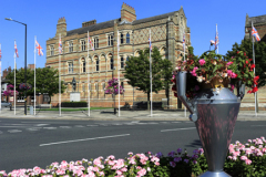Exterior of Rugby School, Rugby town