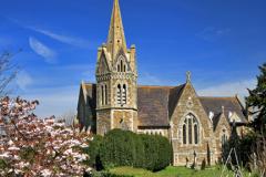 Cherry Blossom St John's Church Lower Shuckburgh