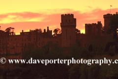 Sunset over Warwick Castle