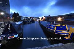 Narrowboats, Gas Street Basin, Birmingham Canal