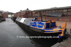 Narrowboats in Cambrian Wharf , Birmingham Canal