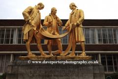 Statue of the golden boys of Birmingham