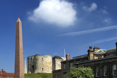 View to Cliffords Tower, York City