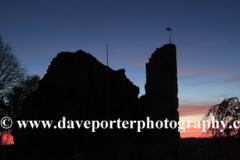 Sunset over the Ruins of Knaresborough Castle