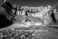 Autumn, Gordale Scar limestone cliffs, Malhamdale