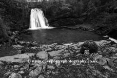Janet's Foss waterfall, river Aire, near Malham village