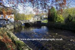 Autumn, Stone bridge over Malham Beck, Malham